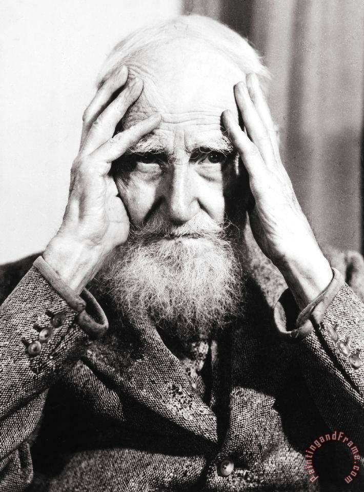 George Bernard Shaw Painting; George Bernard Shaw Art Print for sale